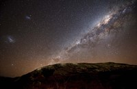 The Milky Way rising above the hills of Azul, Argentina Fine Art Print