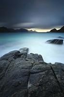 A long exposure scene at Haukland Beach in Lofoten, Norway Fine Art Print