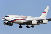 An Ilyushin Il-96 airliner prepares for landing Fine Art Print