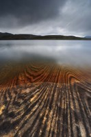 Geology lines in Sandvannet Lake, Nordland County, Norway Fine Art Print