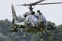 Serbian Air Force Soko SA-342L GAMA helicopter Fine Art Print