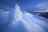 Sunset on the summit Toviktinden Mountain, Norway Fine Art Print