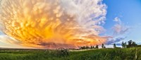 Panoramic view of mammatocumulus clouds, Alberta, Canada Fine Art Print