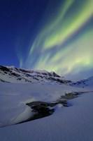Aurora Over Skittendalstinden in Troms County, Norway by Arild Heitmann - various sizes