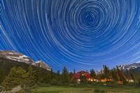 Circumpolar star trails over Banff National Park, Alberta, Canada Fine Art Print