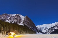Lake Louise on a clear night in Banff National Park, Alberta, Canada by Alan Dyer - various sizes