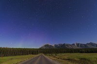 Northern autumn constellations rising over a road in Banff National Park, Canada by Alan Dyer - various sizes