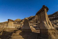 Stars over the hoodoos in the Red Deer River valley, Alberta, Canada by Alan Dyer - various sizes