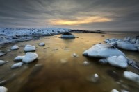 A frozen, rusty bay on Andoya Island in Nordland County, Norway by Arild Heitmann - various sizes