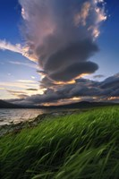 A giant stacked lenticular cloud over Tjeldsundet, Troms County, Norway by Arild Heitmann - various sizes, FulcrumGallery.com brand