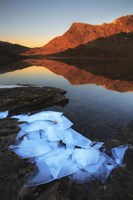 Ice flakes in the shadows of Skittendalen Valley in Troms County, Norway Fine Art Print