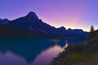 Twilight at Mt Cephren, Waterfowl Lakes, Banff National Park, Alberta, Canada by Alan Dyer - various sizes
