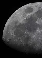 The limb and terminator of the waxing gibbous moon by Luis Argerich - various sizes