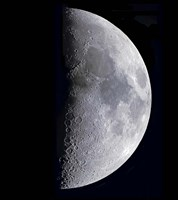 Quarter Moon by Alan Dyer - various sizes