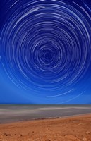 Star trails around the south celestial pole at the beach in Miramar, Argentina by Luis Argerich - various sizes - $47.99