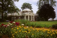 Gardens at Jefferson s home at Monticello Fine Art Print