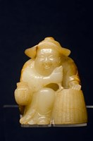 China, Shanghai, Shanghai Museum. Carved jade fisherman. by Cindy Miller Hopkins - various sizes