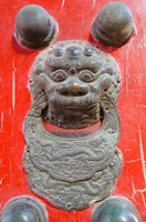 Door knocker, Hall of Consolation, Forbidden City, Beijing, China by Cindy Miller Hopkins - various sizes