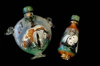 Hand Painted Snuff Bottles with Jade Tops and Horse Globe, Chinese Handicrafts, China by Cindy Miller Hopkins - various sizes - $40.49
