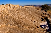 Historical 2nd Century Roman Theater ruins in Dougga, Tunisia, Northern Africa by Bill Bachmann - various sizes