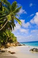 Anse Victorin Beach, Fregate Island, Seychelles Fine Art Print