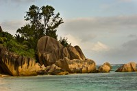 Anse-Source D'Argent coastline, Seychelles, Africa by Alison Wright - various sizes - $40.99