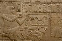 Egypt, Luxor, Luxor Temple, Hieroglyphics Framed Print