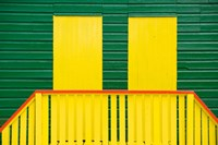 Yellow and Green wooden cottages, Muizenberg Resort, Cape Town, South Africa by Alison Wright - various sizes