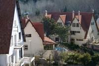 Alpine Buildings, Alpine Resort, Ifrane, Middle Atlas, Morocco Fine Art Print