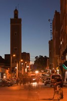 Er Rachidia, Town Mosque and Rue el-Mesjia, Ziz River Valley, Morocco by Walter Bibikow - various sizes