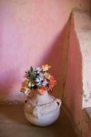 Flowers and Room Detail in Dessert House (Chez Julia), Merzouga, Tafilalt, Morocco by Walter Bibikow - various sizes