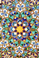 Hassan II Mosque Mosaic Detail, Casablanca, Morocco Fine Art Print