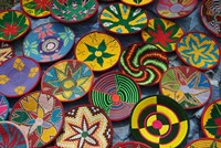 Ethiopia: Tigray, Axum, woven baskets, market Fine Art Print