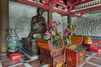 Buddhist shrine, Big Wild Goose Pagoda, Xian, China by Adam Jones - various sizes