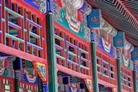 Colorfully painted corridor details, Zhongshan Park, Beijing, China by Adam Jones - various sizes
