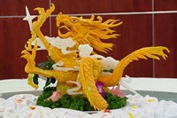 Dragon carved from pumpkin, Yellow Mountain, China by Adam Jones - various sizes - $41.49