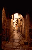Ancient Alleys in Huizhou-styled Residential Area, China Fine Art Print
