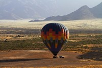 Aerial view of Hot air balloon landing, Namib Desert, Namibia by David Wall - various sizes - $41.99