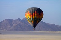 Aerial view of Hot air balloon over Namib Desert, Sesriem, Namibia Fine Art Print