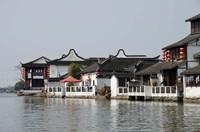 China, Zhujiajiao village, riverfront homes by Cindy Miller Hopkins - various sizes