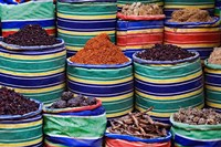 Colorful Spices at Bazaar, Luxor, Egypt by Adam Jones - various sizes