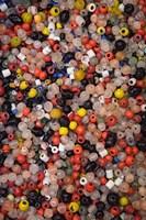 Glass beads, Khan el Khalili Bazaar, Market, Cairo, Egypt Fine Art Print