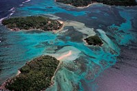 Aerial View of Ste Anne Marine National Park, Seychelles Fine Art Print