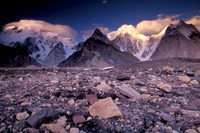 Broad and Gasherbrun Peaks, Karakoram Range, Pakistan Fine Art Print