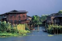 Floating Village on Inle Lake, Myanmar by Keren Su - various sizes
