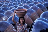 Girl with Pottery Jars, Myanmar by Keren Su - various sizes