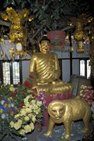 Gold Tiger and Bhuddha Sculpture at the Golden Temple, China Fine Art Print