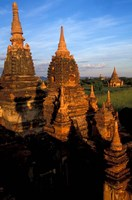 Ancient Temples and Pagodas at Sunrise, Myanmar by Keren Su - various sizes