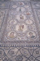 Abduction of Hylas Mosaic on Floor of an Ancient Roman Building, Morocco Fine Art Print