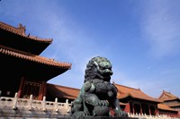 Bronze lion statue, , Forbidden City, China by Bill Bachmann - various sizes